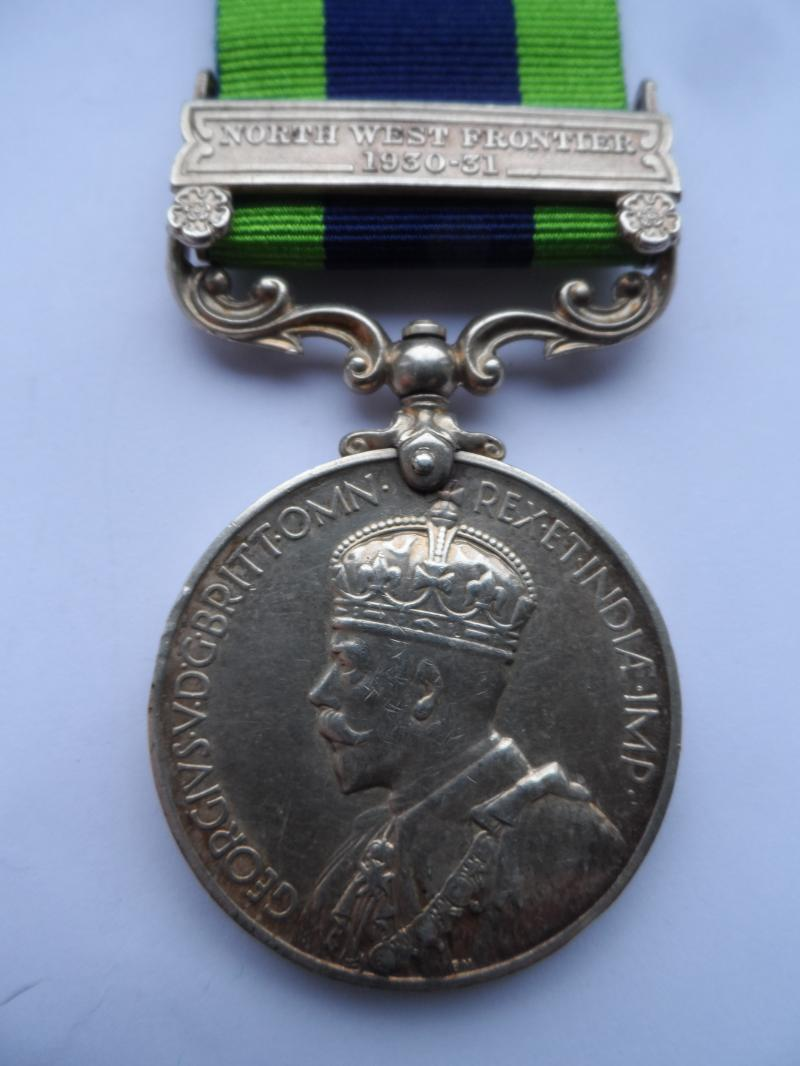 INDIA GENERAL SERVICE MEDAL-CLASP NORTH WEST FRONTIER-TO BATES BORDER REGIMENT