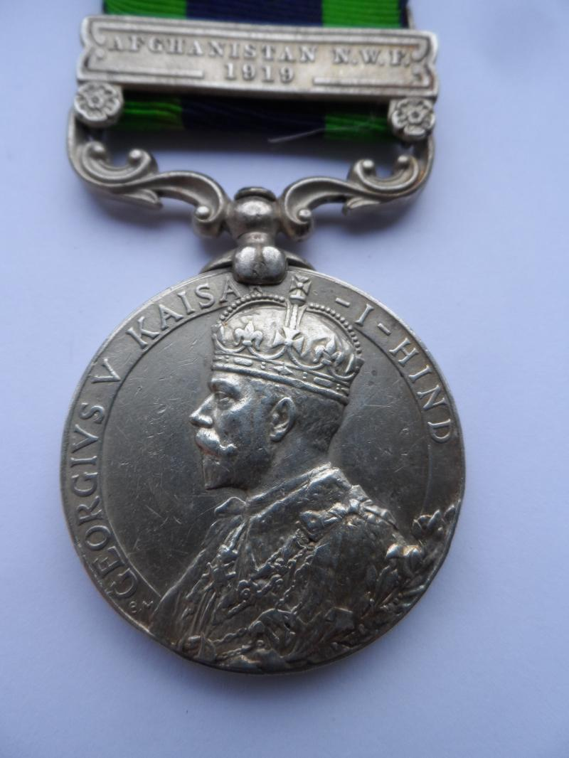 INDIA GENERAL SERVICE MEDAL-CLASP AFGHANISTAN N.W.F.1919-TO LEWIS-BORDER REGIMENT