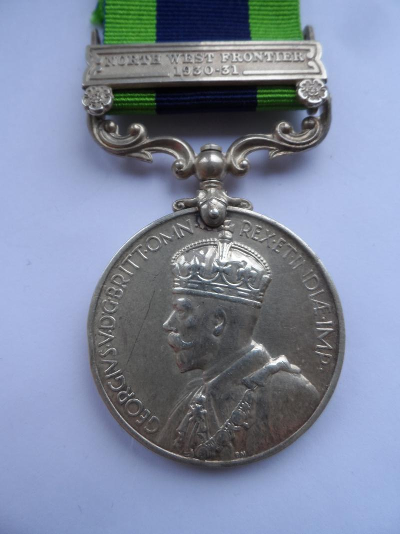 INDIA GENERAL SERVICE MEDAL-NORTH WEST FRONTIER 1930-31 TO- RUSSELL- BORDER REGIMENT