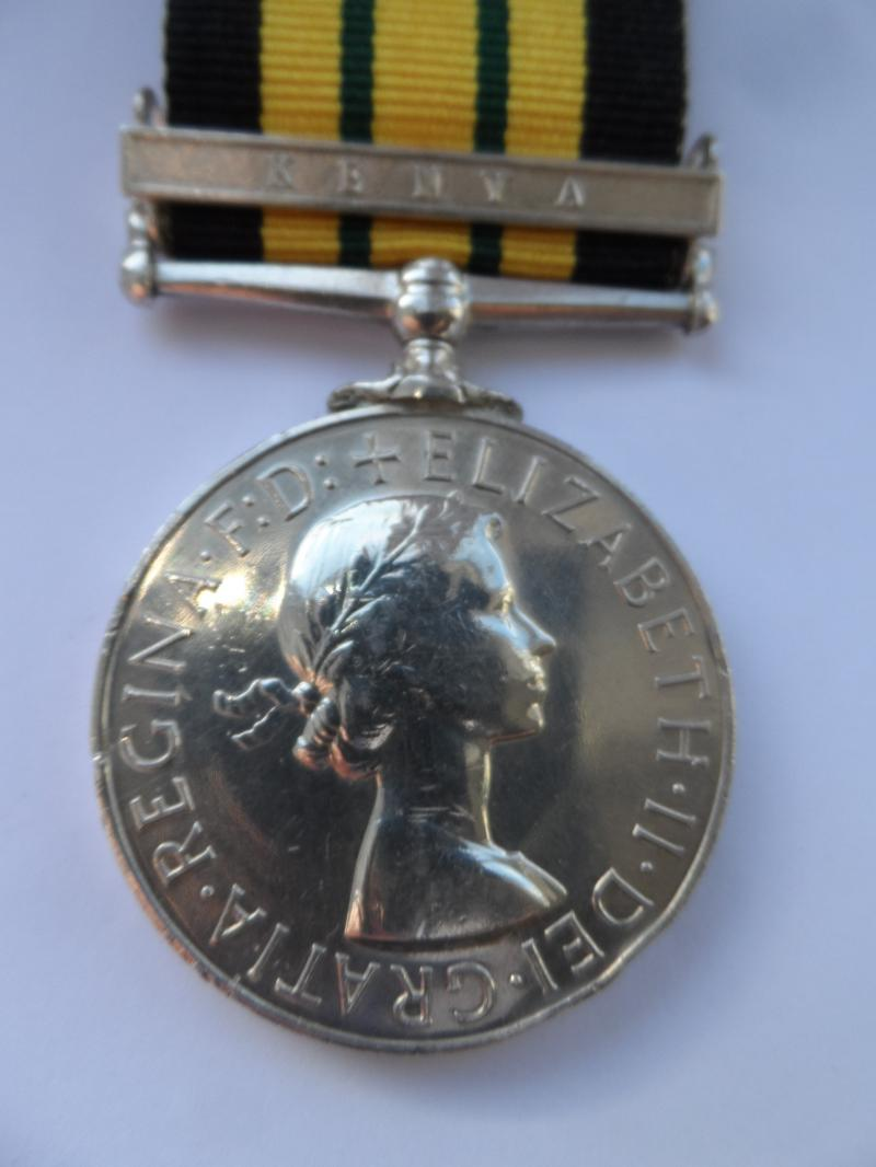 AFRICA GENERAL SERVICE MEDAL-KENYA-RIFLEMAN CLENCH-RIFLE BRIGADE