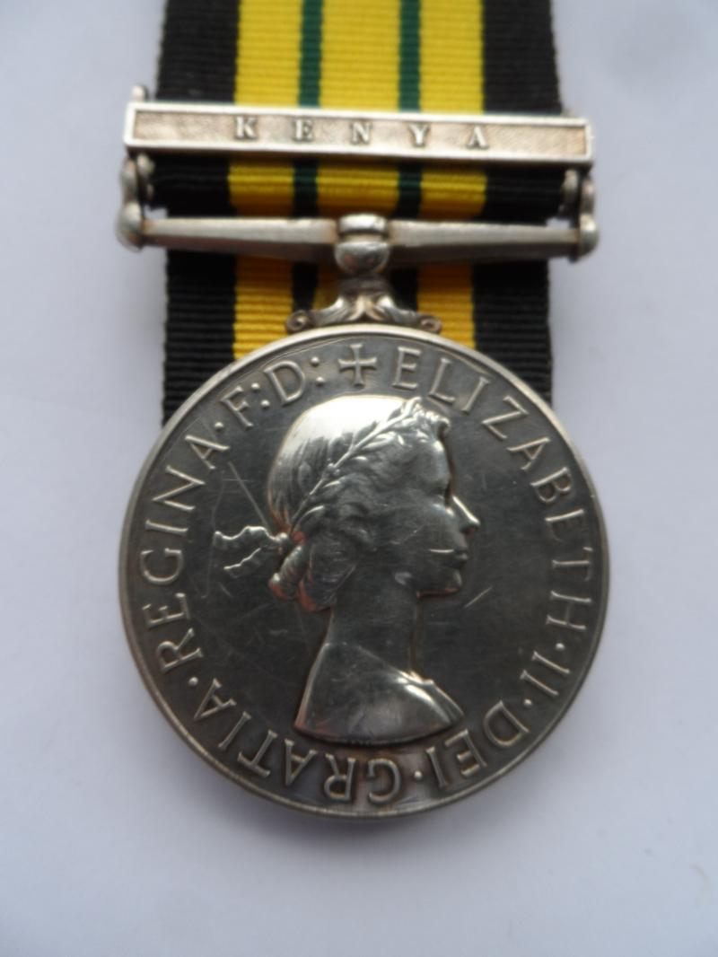 AFRICA GENERAL SERVICE MEDAL-CLASP KENYA-TO BLACKWELL-GLOSTERS